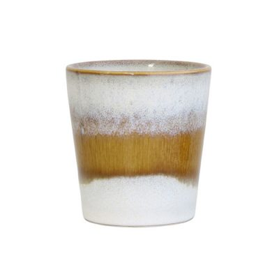 70s inspired glazed cup - Snow