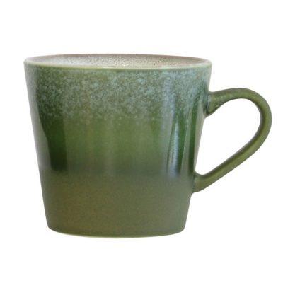 Ceramic 70's Cappuccino Mug Moss