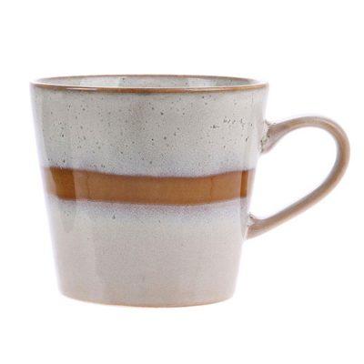 Ceramic 70's Cappuccino Mug Snow