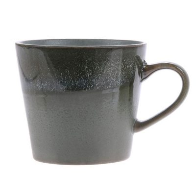 70s vintage inspired ceramic mug in moss
