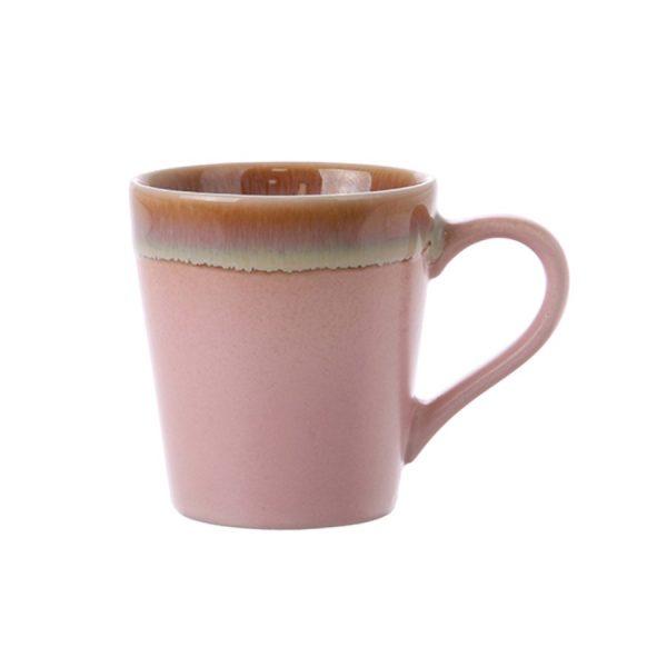 Ceramic 70's Espresso Mug Pink