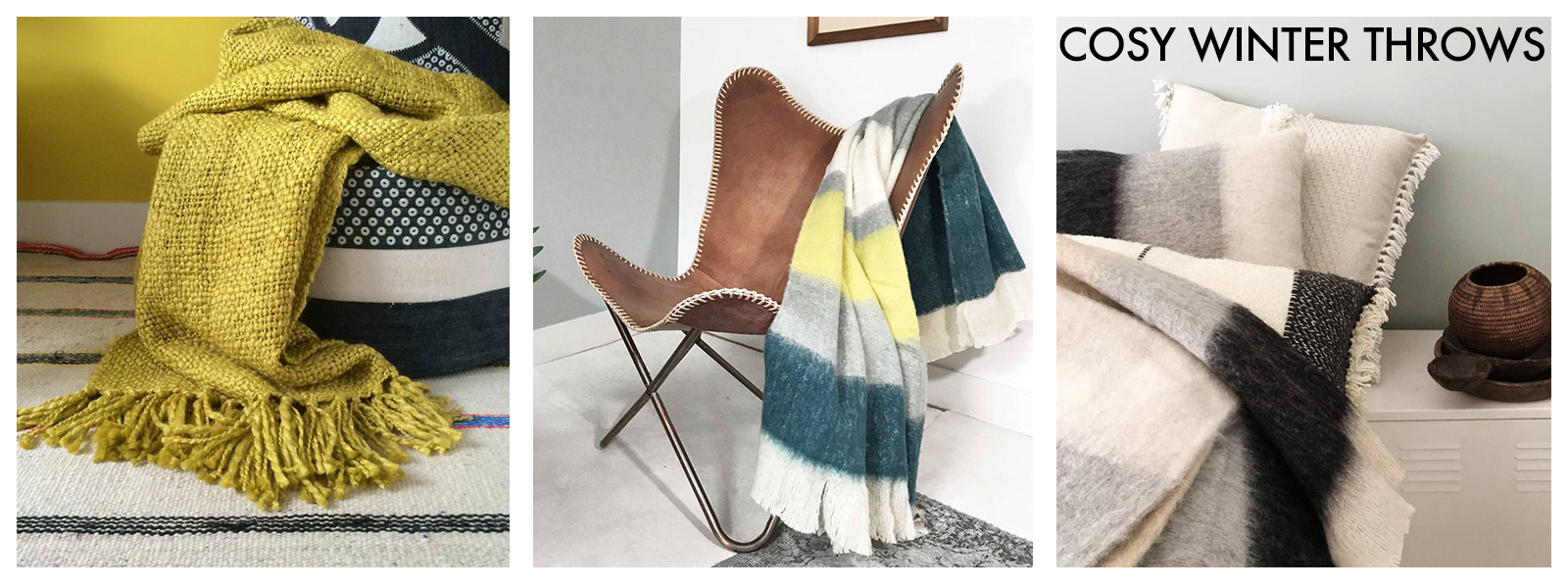 Cosy up your couch with our beautiful collection of Throws and blankets