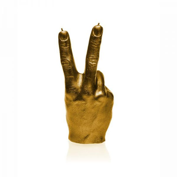 Peace Out Candle - Gold