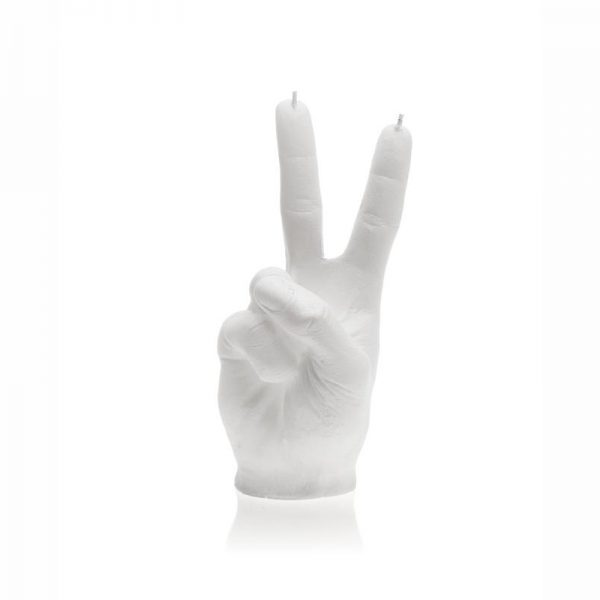 Peace Out Candle - White