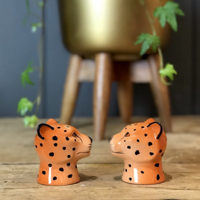 Wild Leopard Salt & Pepper Shakers