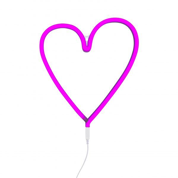 Pink Love Heart LED Neon Light