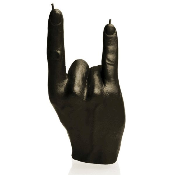 Rock On Candle - Black