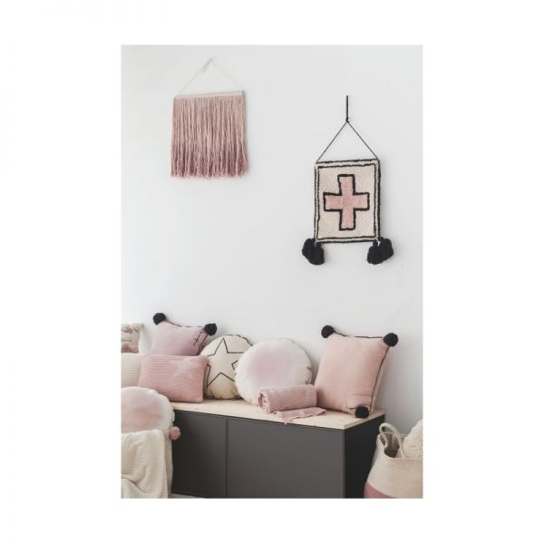 Blush Pink & Black Cross Wall Hanging