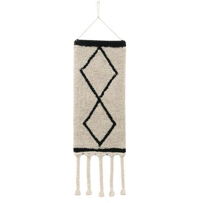 Berber inspired Diamond Wall Hanging in Natural