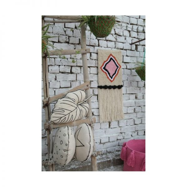 Berber Inspired blush Pink Diamond Wall Hanging