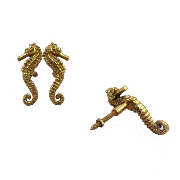 Pair of Seahorse Door Knobs