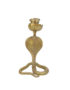 Gold Serpent snake candleholder