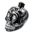 Day of the Dead Sugar Skull Drinks Decanter in Black
