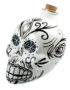 Day of the Dead Sugar Skull Drinks Decanter in White