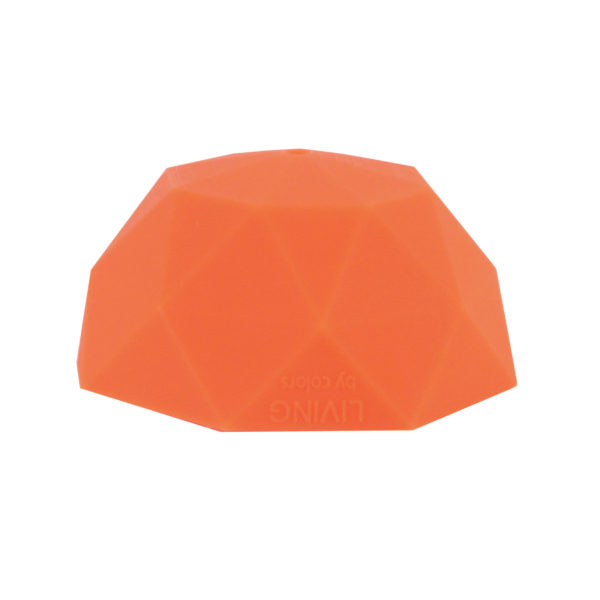 Tangerine Faceted Silicone Ceiling Rose Cover