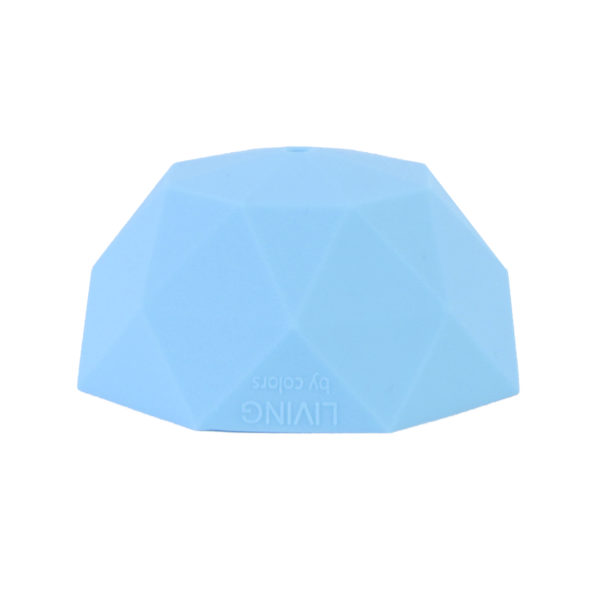 Sky Blue Faceted Silicone Ceiling Rose Cover