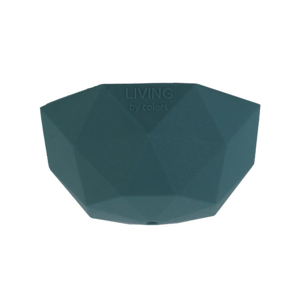 Teal Faceted Silicone Ceiling Rose Cover