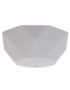 Cloud Grey Faceted Silicone Ceiling Rose Cover