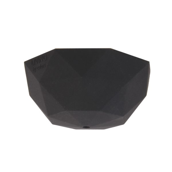 Black Faceted Silicone Ceiling Rose Cover