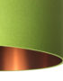 Chartreuse Green Lampshade With Brushed Copper Lining