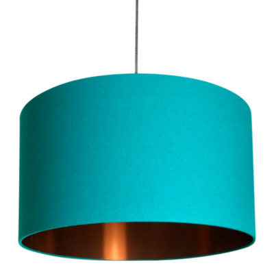 Jade Lampshade With Brushed Copper Lining