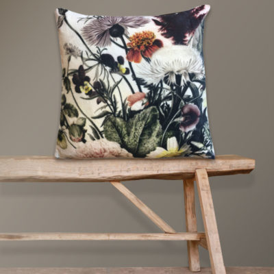 Wild Flower Velvet Cushion
