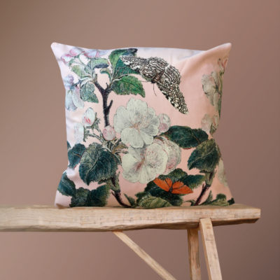 Apple Blossom Cushion in Nude