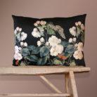 Apple Blossom Bolster Cushion in Black