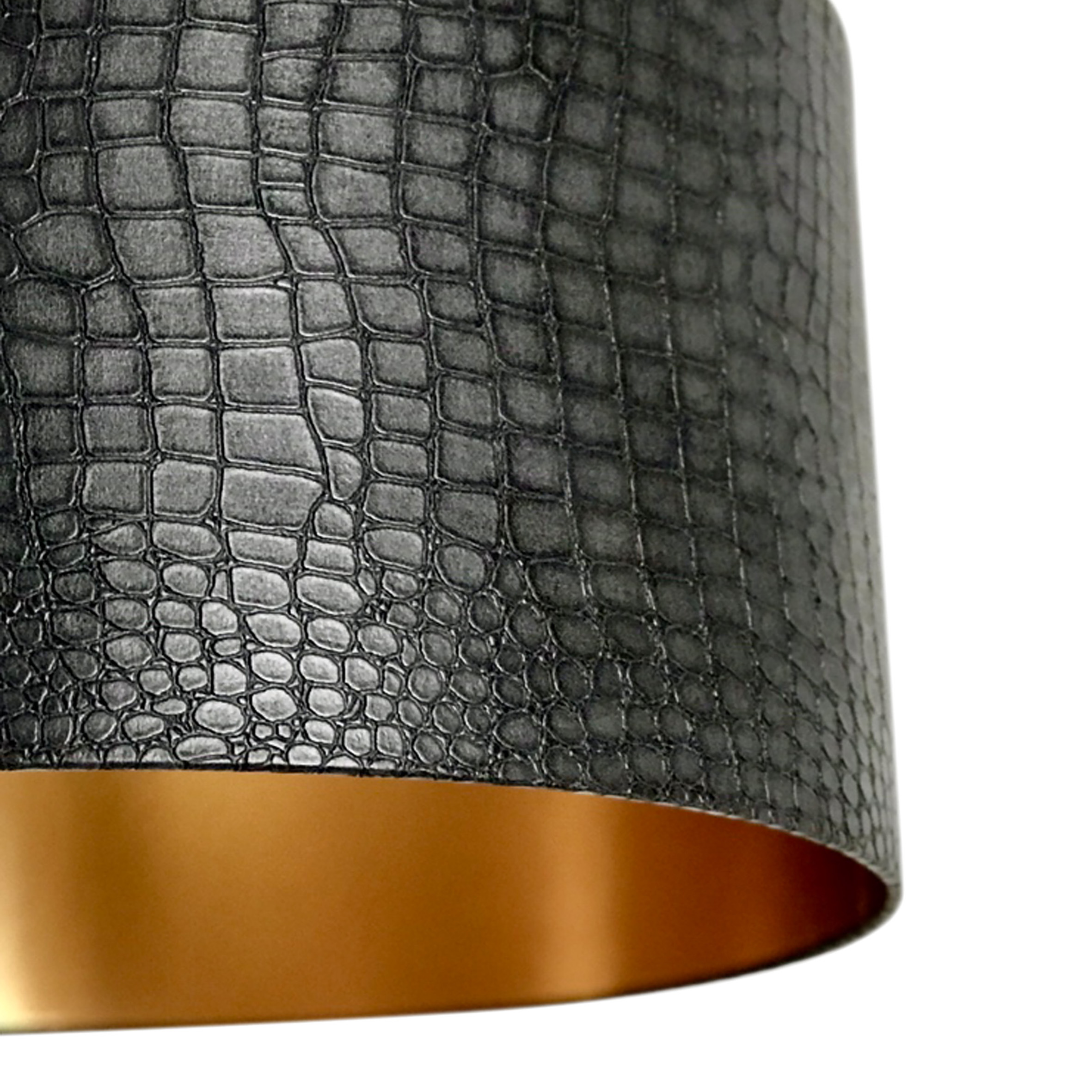 Mock Croc Print Lampshade With Ambient