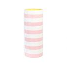 Pink Striped Vase