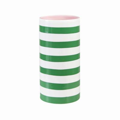 Green Striped Vase