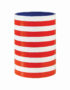 Red Striped Vase