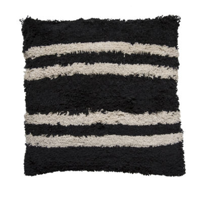 Minimalist Monochrome Stripes Cushion
