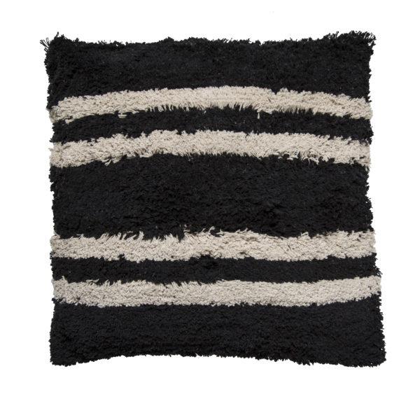 Minimalist Monochrome Stripes Cushion