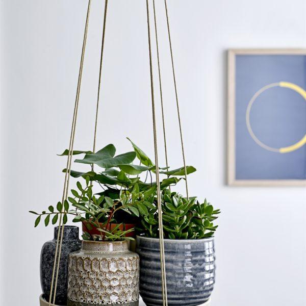 Grey Crackled Flower Pot
