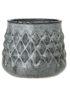 Blue Diamond Pattern Stoneware Pot
