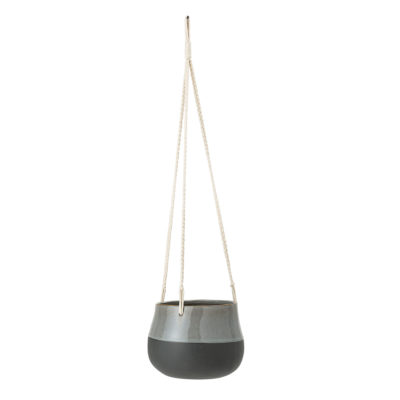 Grey Stoneware Hanging Pot