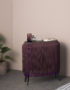 Baby Alpaga Fringed display Cabinet in Deep Purple