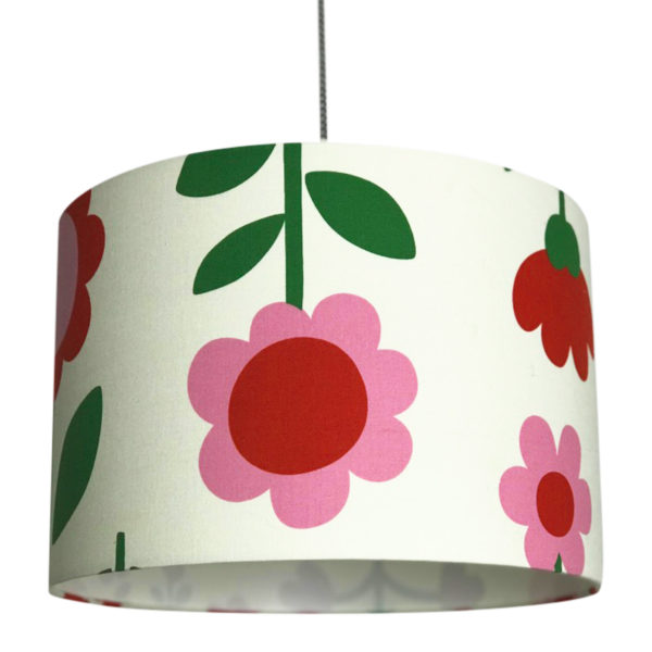 Scandi Flowers Handmade Lampshade