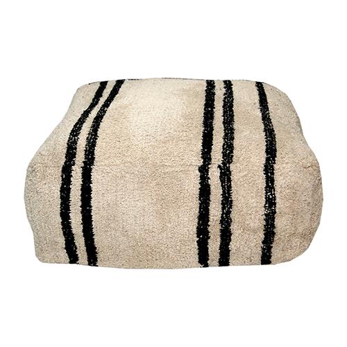 Berber inspired Striped Pouff