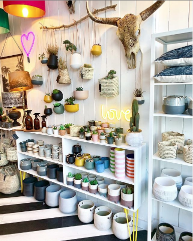 a cornucopia of planters and vases found at Love Frankie