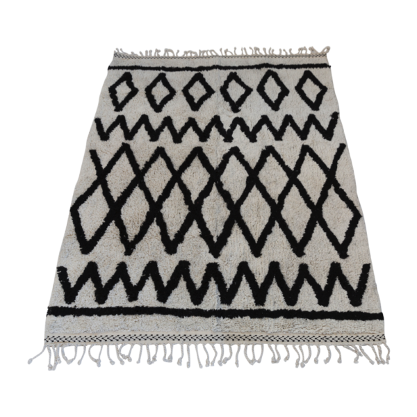 Berber Inspired Monochrome Criss - Cross Rug