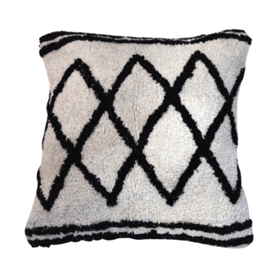 Berber Inspired Monochrome Zig-Zag Cushion