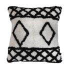 Berber Inspired Monochrome Diamond Cushion