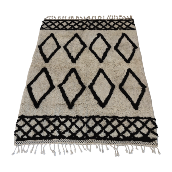 Berber Inspired Monochrome Diamond Rug