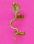 Gold serpent snake door handle