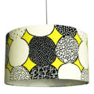 Monochrome Memphis handmade Lampshade in Sunshine Yellow
