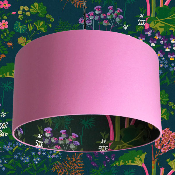 Candy Floss Rhubarb lampshade