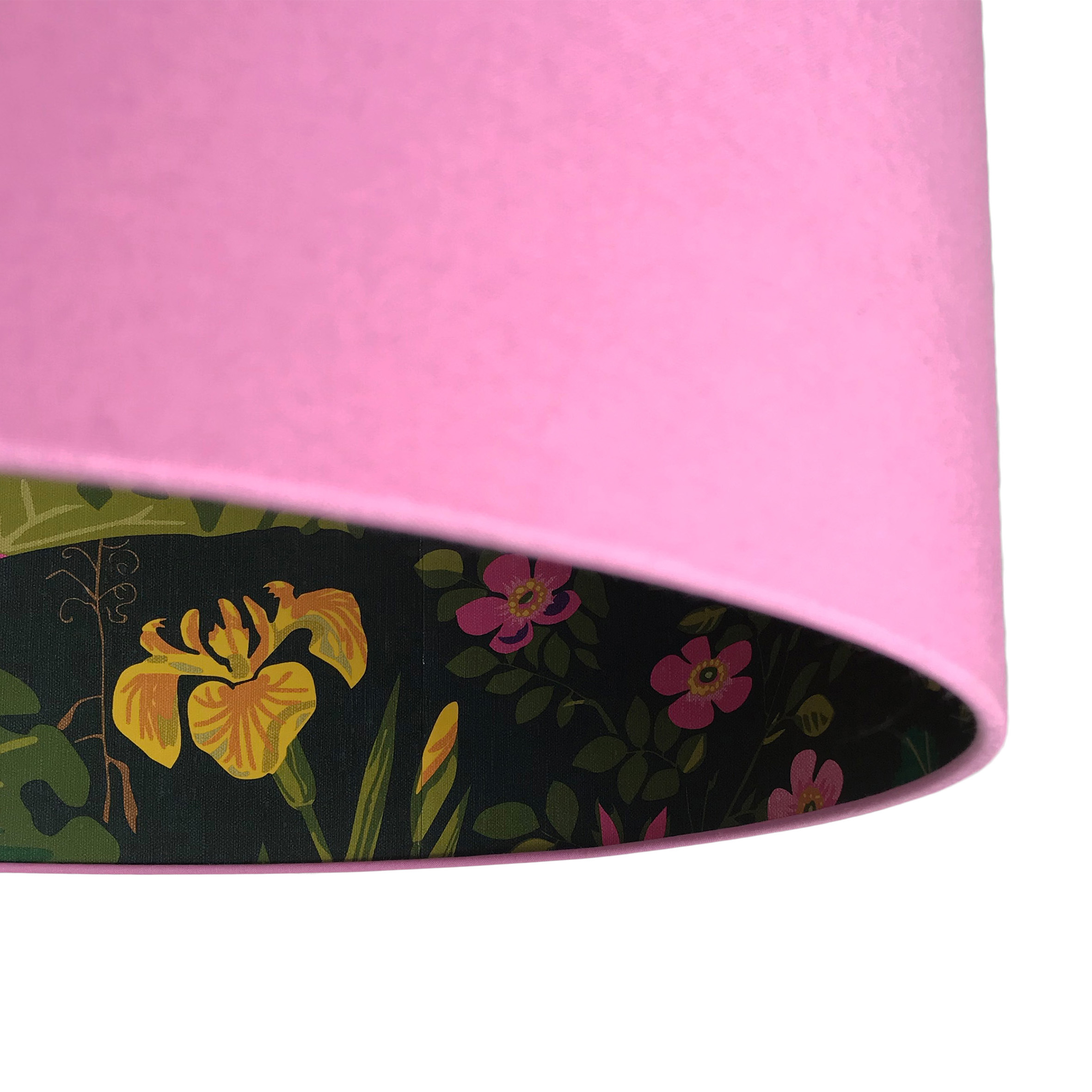 Rabarber Wallpaper Lampshade In Candy Floss Pink Love