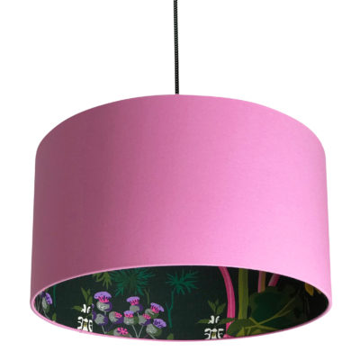 Rabarber Wallpaper Silhouette Lampshade in Candy Floss Pink